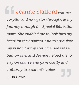 Jeanne Stafford testimonial from a parent